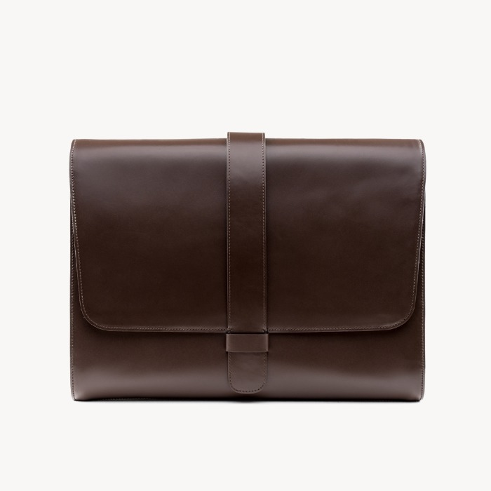DOWNTOWN LAPTOP BAG _ Brown
